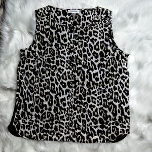 Calvin Klein Animal Print Sleeveless Shell
